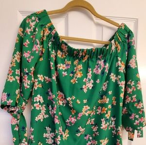Vince Camuto off shoulder floral dress